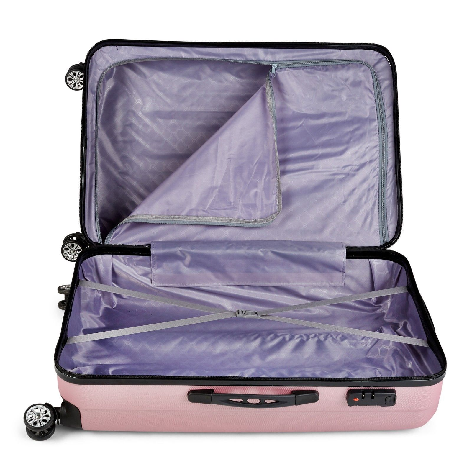 Milano-Premium-3pc-ABS-Luggage-Suitcase-Luxury-Hard-Case-Shockproof-Travel-Set thumbnail 26