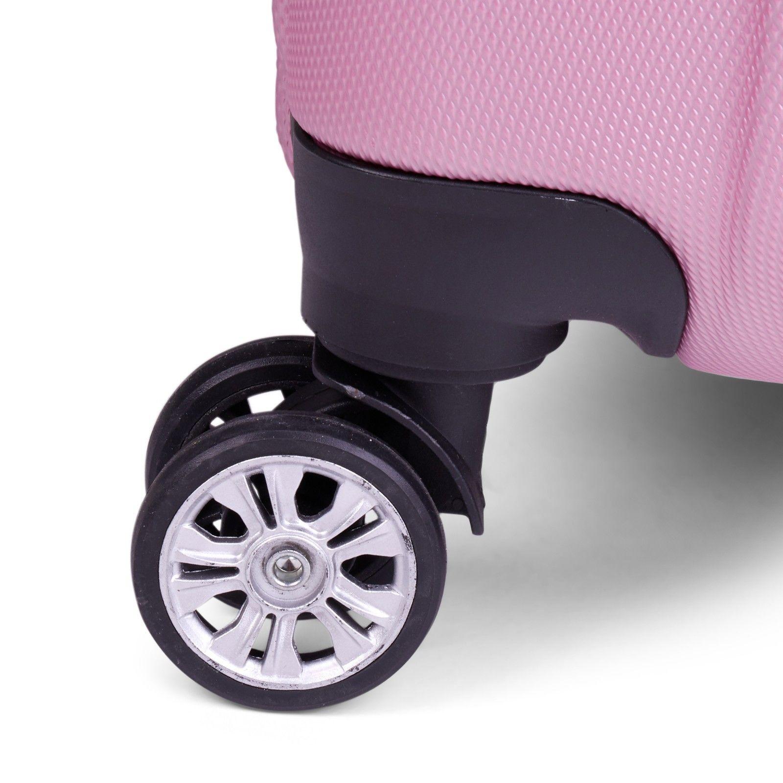 Milano-Premium-3pc-ABS-Luggage-Suitcase-Luxury-Hard-Case-Shockproof-Travel-Set thumbnail 27