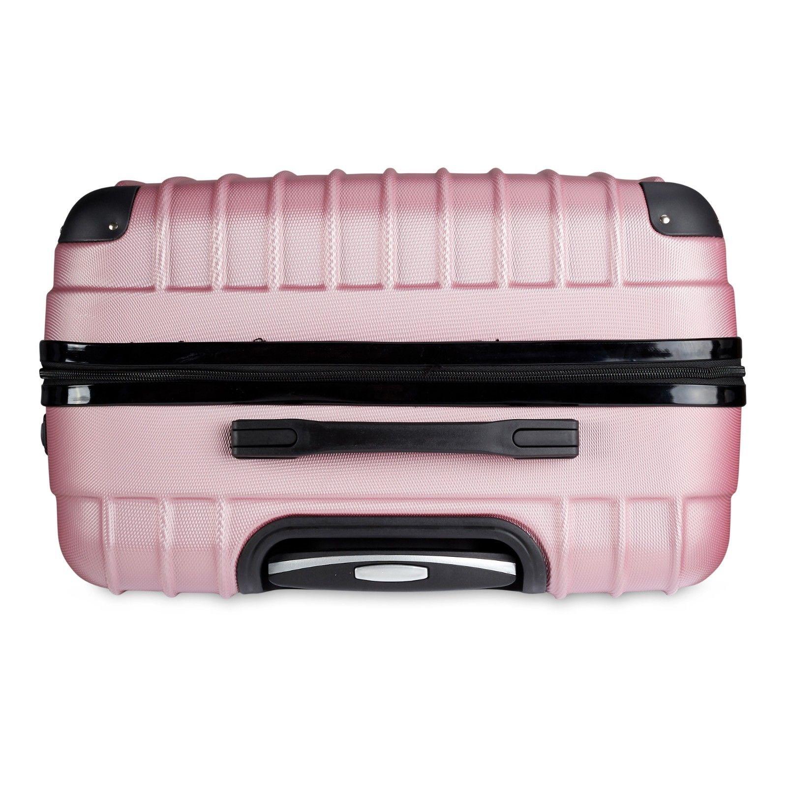 Milano-Premium-3pc-ABS-Luggage-Suitcase-Luxury-Hard-Case-Shockproof-Travel-Set thumbnail 25