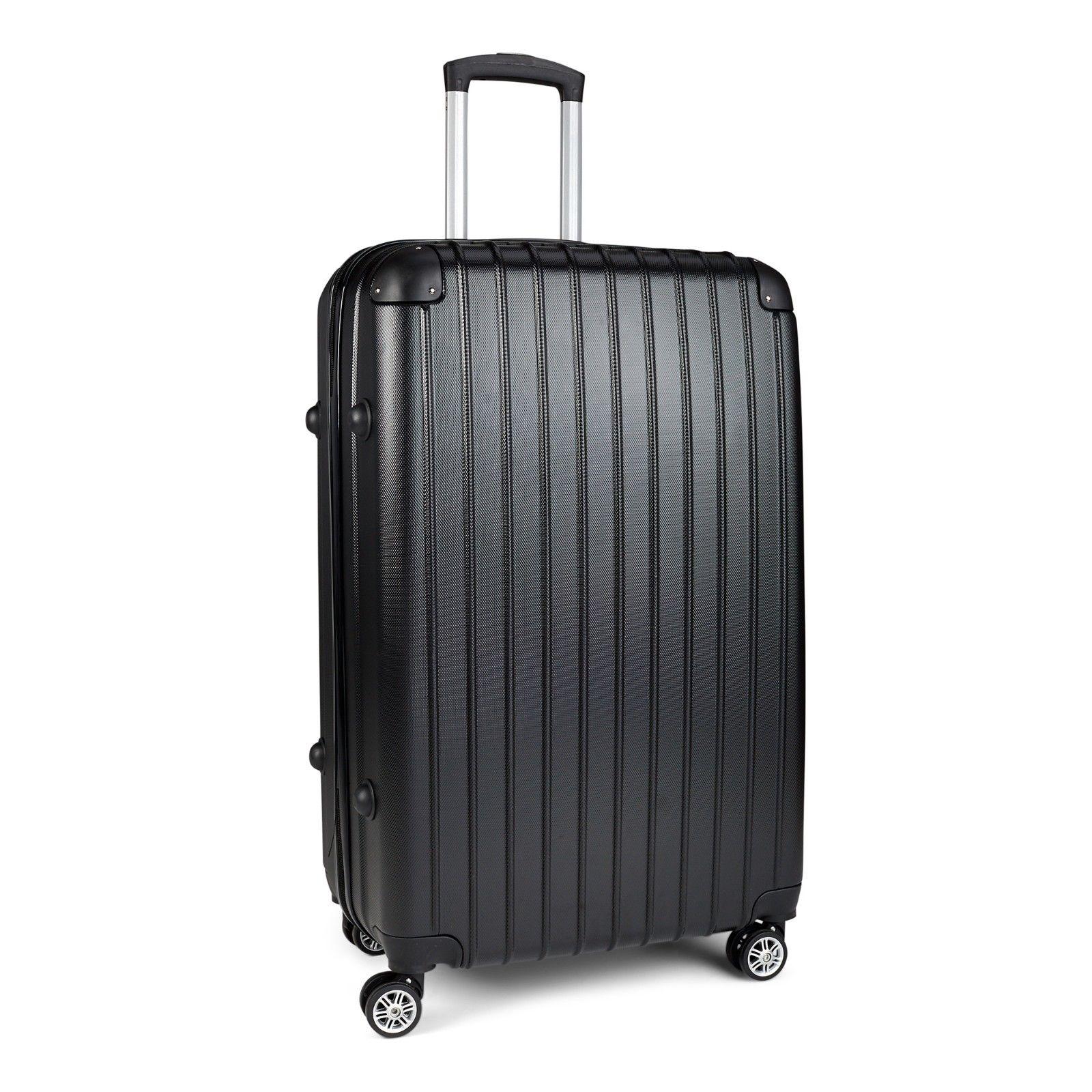 Milano-Premium-3pc-ABS-Luggage-Suitcase-Luxury-Hard-Case-Shockproof-Travel-Set thumbnail 10