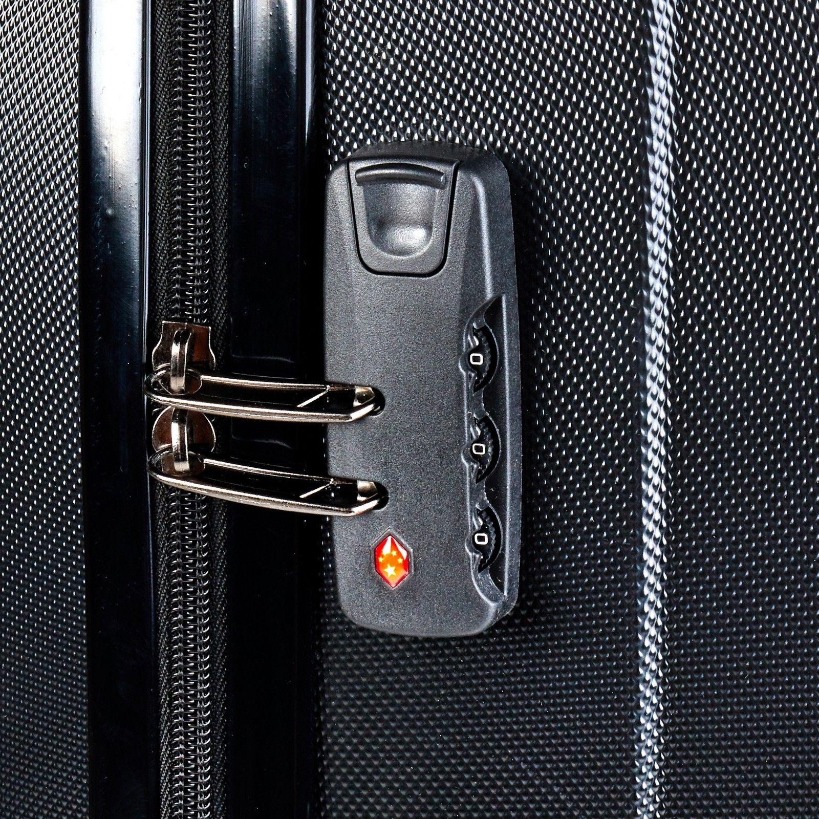 Milano-Premium-3pc-ABS-Luggage-Suitcase-Luxury-Hard-Case-Shockproof-Travel-Set thumbnail 13