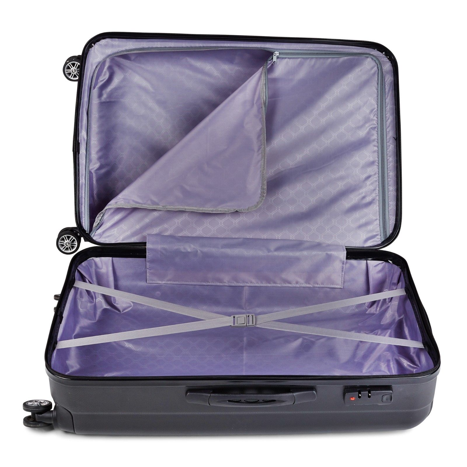 Milano-Premium-3pc-ABS-Luggage-Suitcase-Luxury-Hard-Case-Shockproof-Travel-Set thumbnail 12