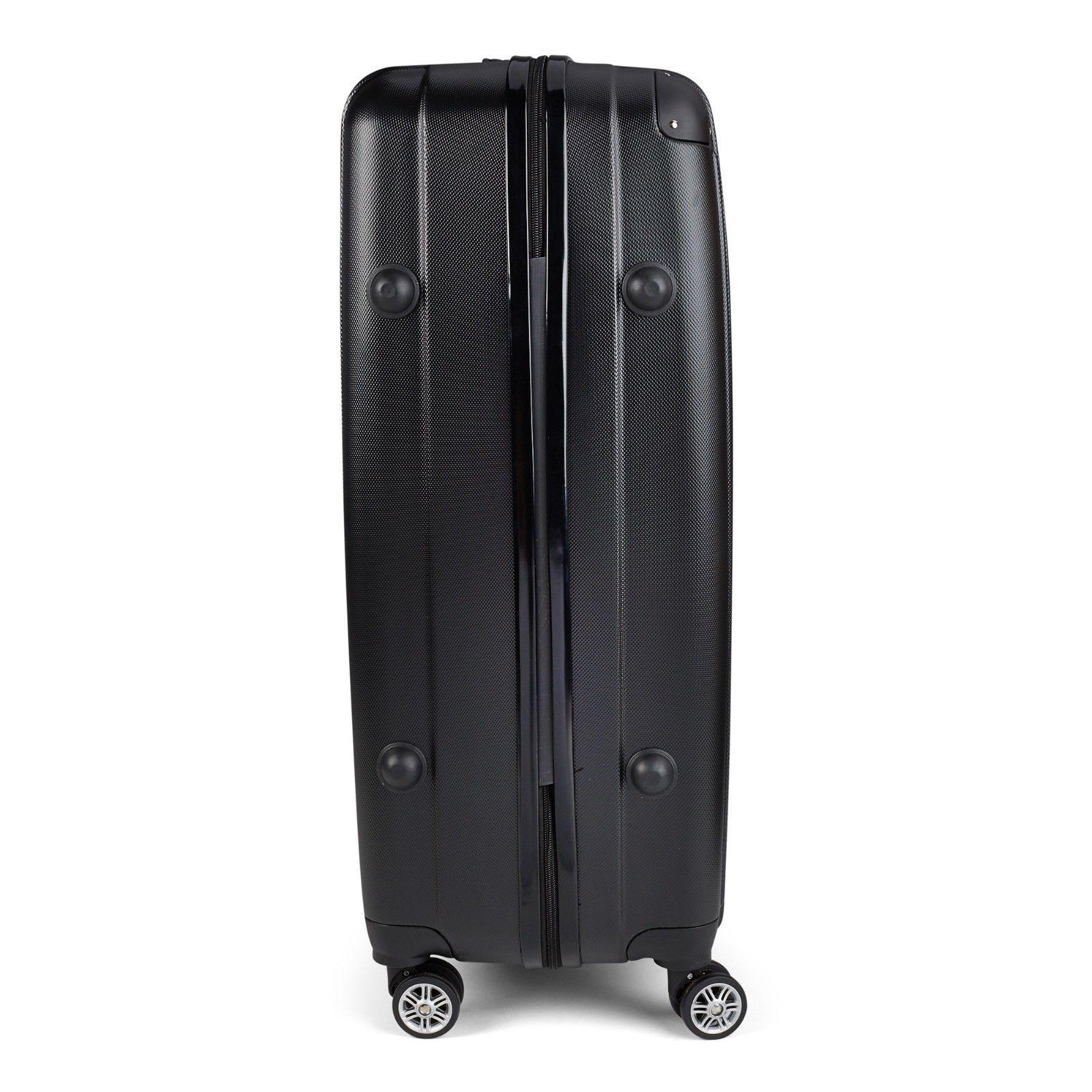 Milano-Premium-3pc-ABS-Luggage-Suitcase-Luxury-Hard-Case-Shockproof-Travel-Set thumbnail 9
