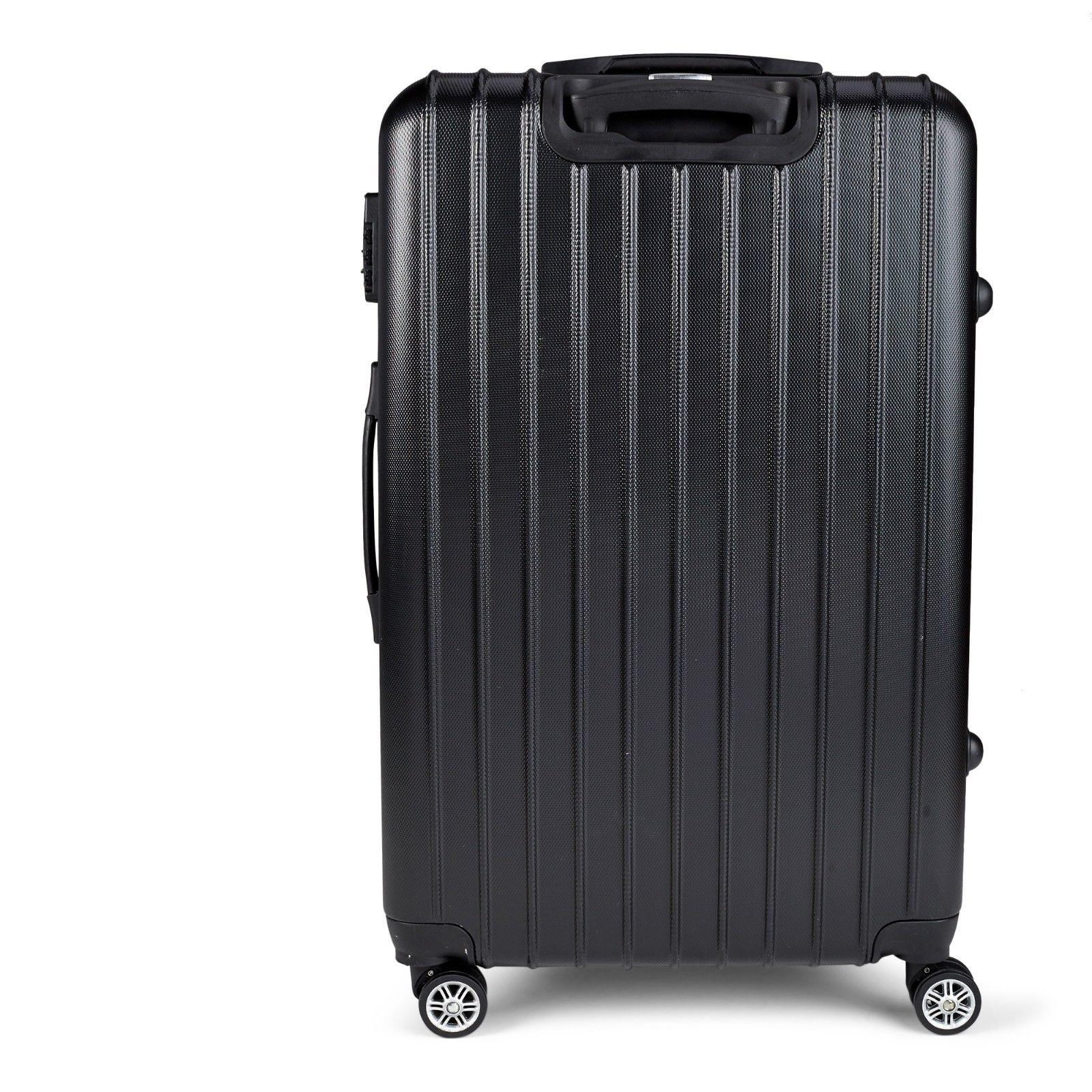 Milano-Premium-3pc-ABS-Luggage-Suitcase-Luxury-Hard-Case-Shockproof-Travel-Set thumbnail 7