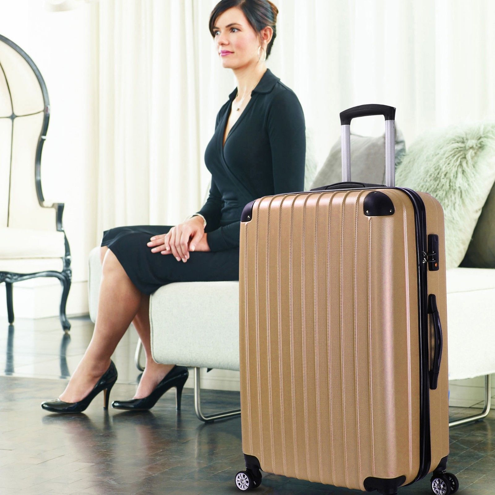 Milano-Premium-3pc-ABS-Luggage-Suitcase-Luxury-Hard-Case-Shockproof-Travel-Set thumbnail 17