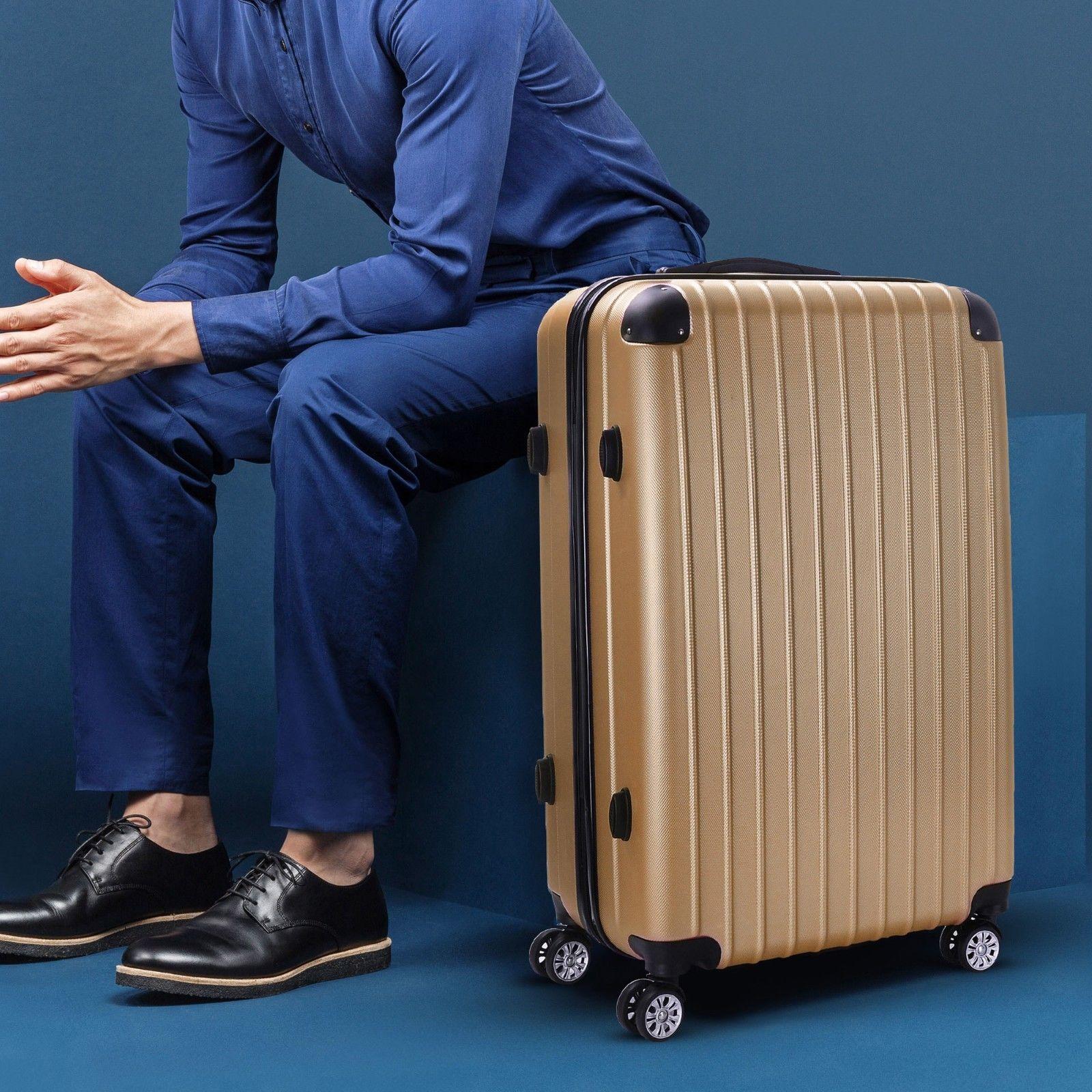 Milano-Premium-3pc-ABS-Luggage-Suitcase-Luxury-Hard-Case-Shockproof-Travel-Set thumbnail 16