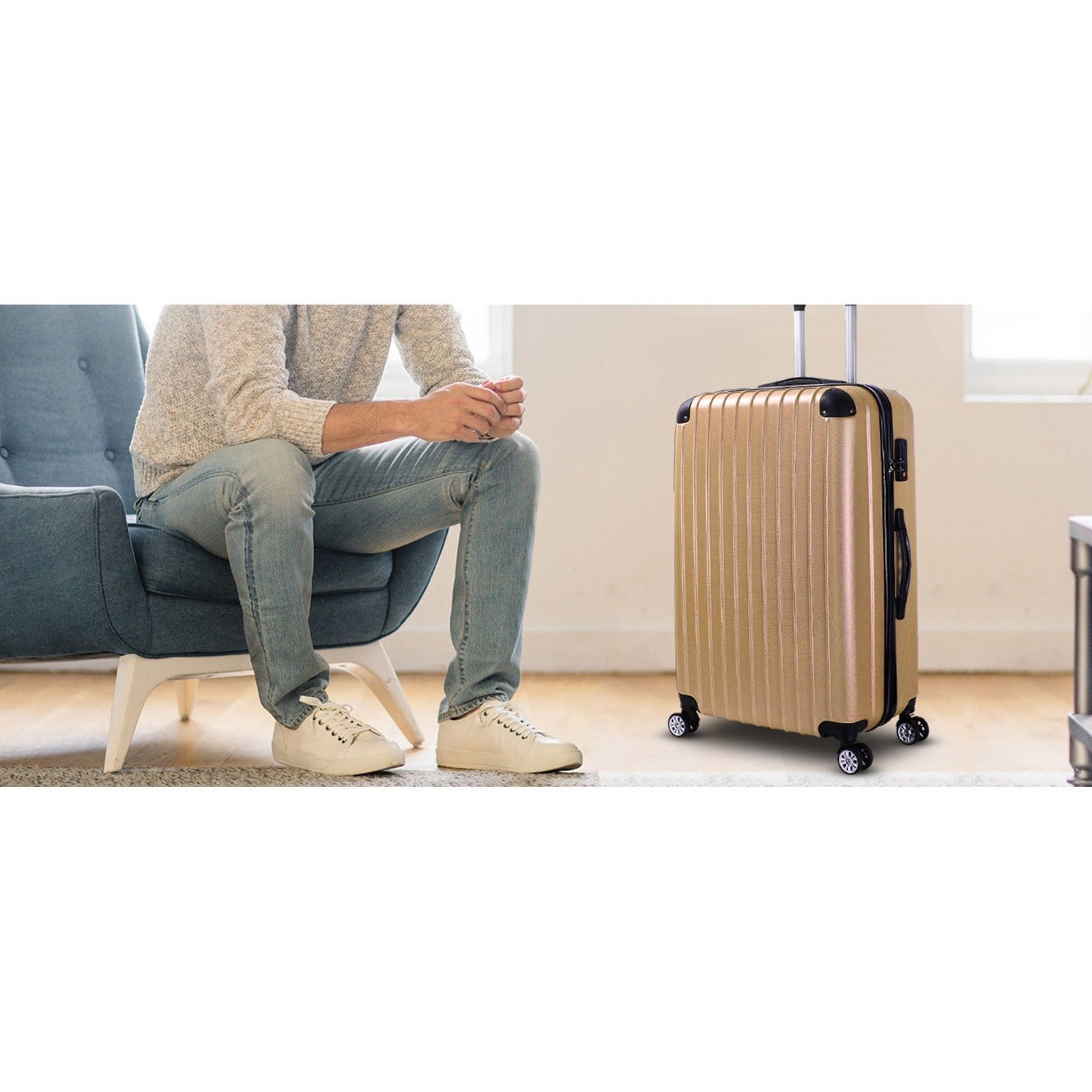 Milano-Premium-3pc-ABS-Luggage-Suitcase-Luxury-Hard-Case-Shockproof-Travel-Set thumbnail 18