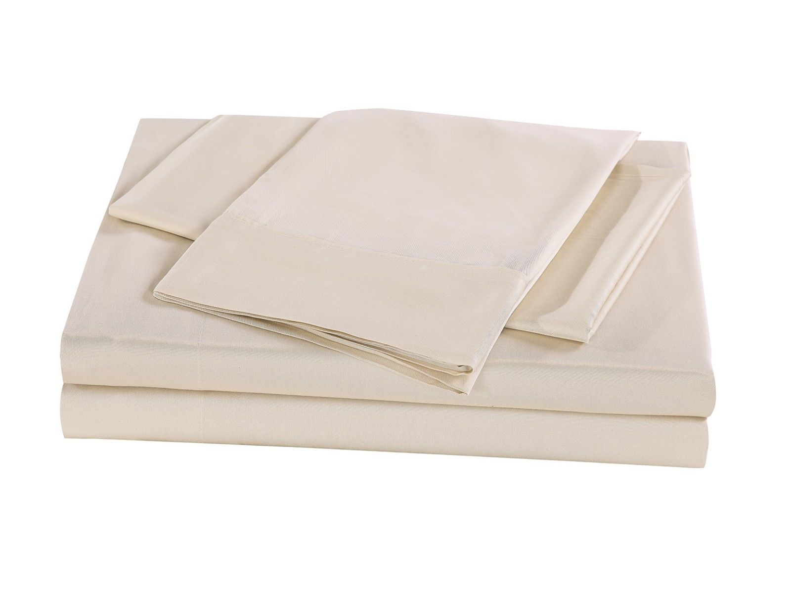 New-Bed-Sheets-Set-1000TC-Bamboo-Blend-Flat-Fitted-Double-Queen-King-Size