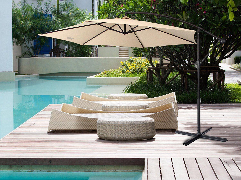 NEW-Milano-3M-Outdoor-Sun-Umbrella-Patio-Garden-Beach-Crank-Tilt-Polyester