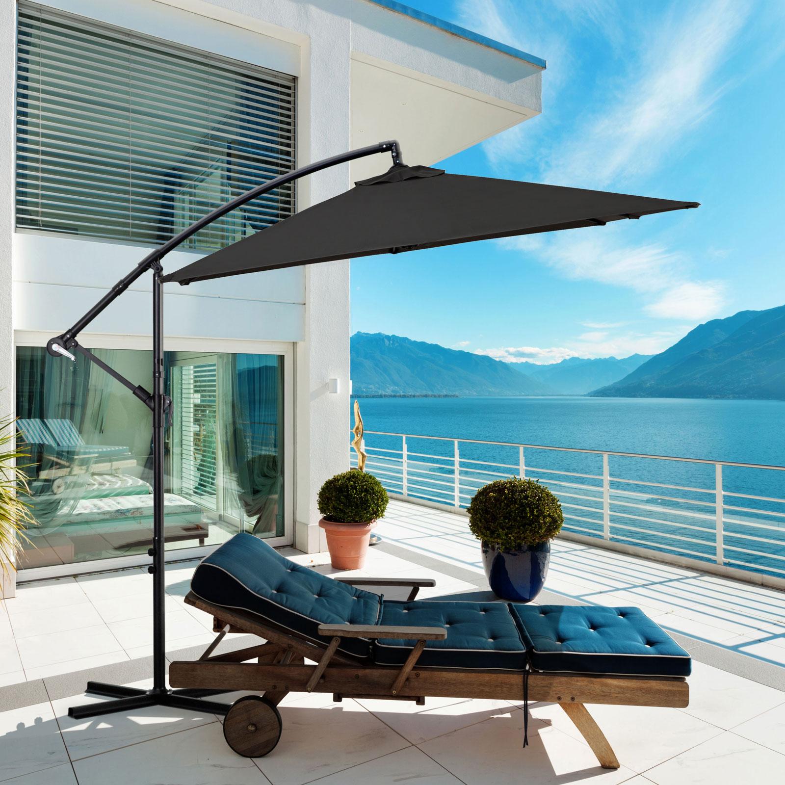 Milano-2-2M-Outdoor-Umbrella-Cantilever-Garden-Deck-Patio-Shade-Water-Resistant thumbnail 12
