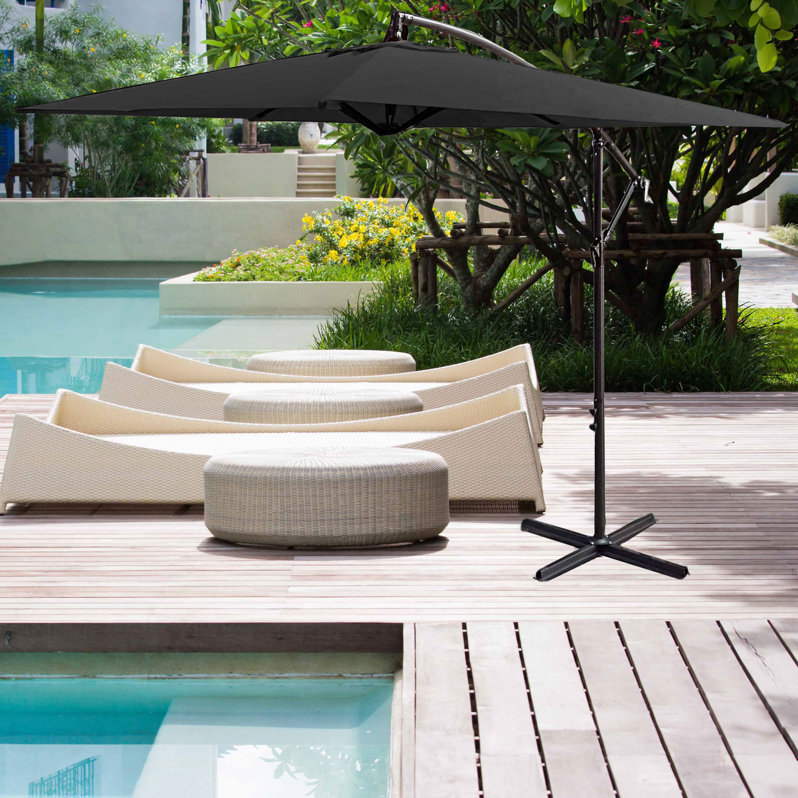 Milano-2-2M-Outdoor-Umbrella-Cantilever-Garden-Deck-Patio-Shade-Water-Resistant thumbnail 13