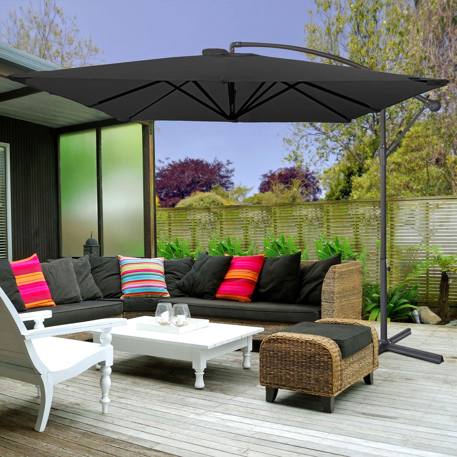 Milano-2-2M-Outdoor-Umbrella-Cantilever-Garden-Deck-Patio-Shade-Water-Resistant thumbnail 14