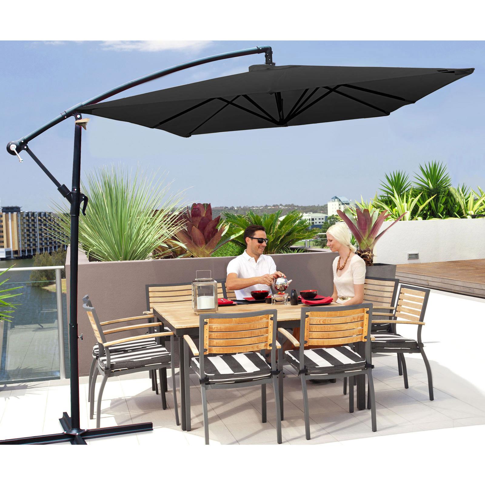 Milano-2-2M-Outdoor-Umbrella-Cantilever-Garden-Deck-Patio-Shade-Water-Resistant thumbnail 15