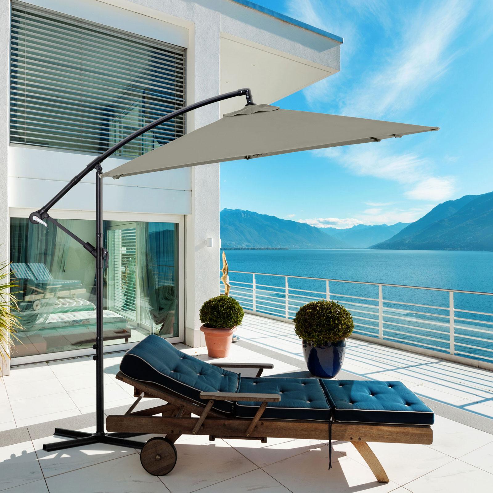 Milano-2-2M-Outdoor-Umbrella-Cantilever-Garden-Deck-Patio-Shade-Water-Resistant thumbnail 20