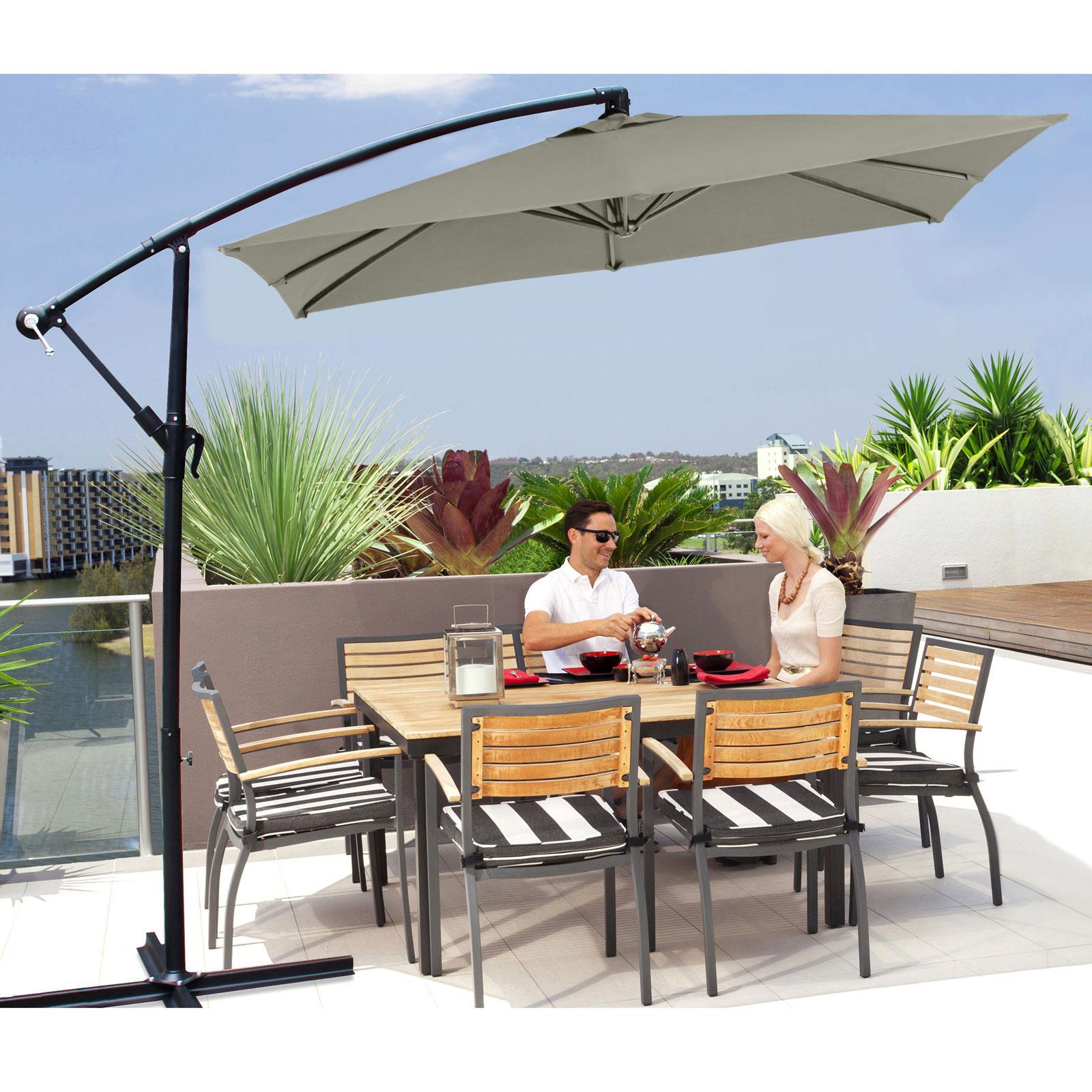 Milano-2-2M-Outdoor-Umbrella-Cantilever-Garden-Deck-Patio-Shade-Water-Resistant thumbnail 21