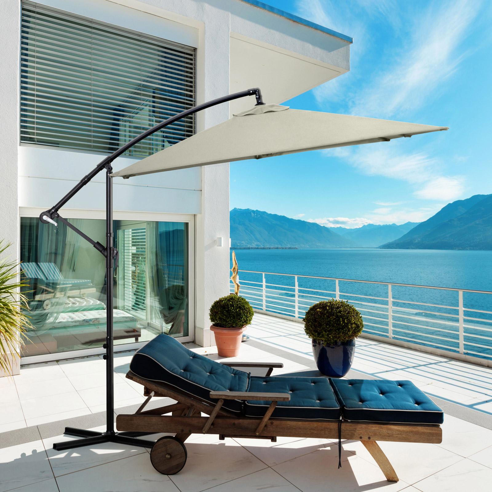Milano-2-2M-Outdoor-Umbrella-Cantilever-Garden-Deck-Patio-Shade-Water-Resistant thumbnail 4