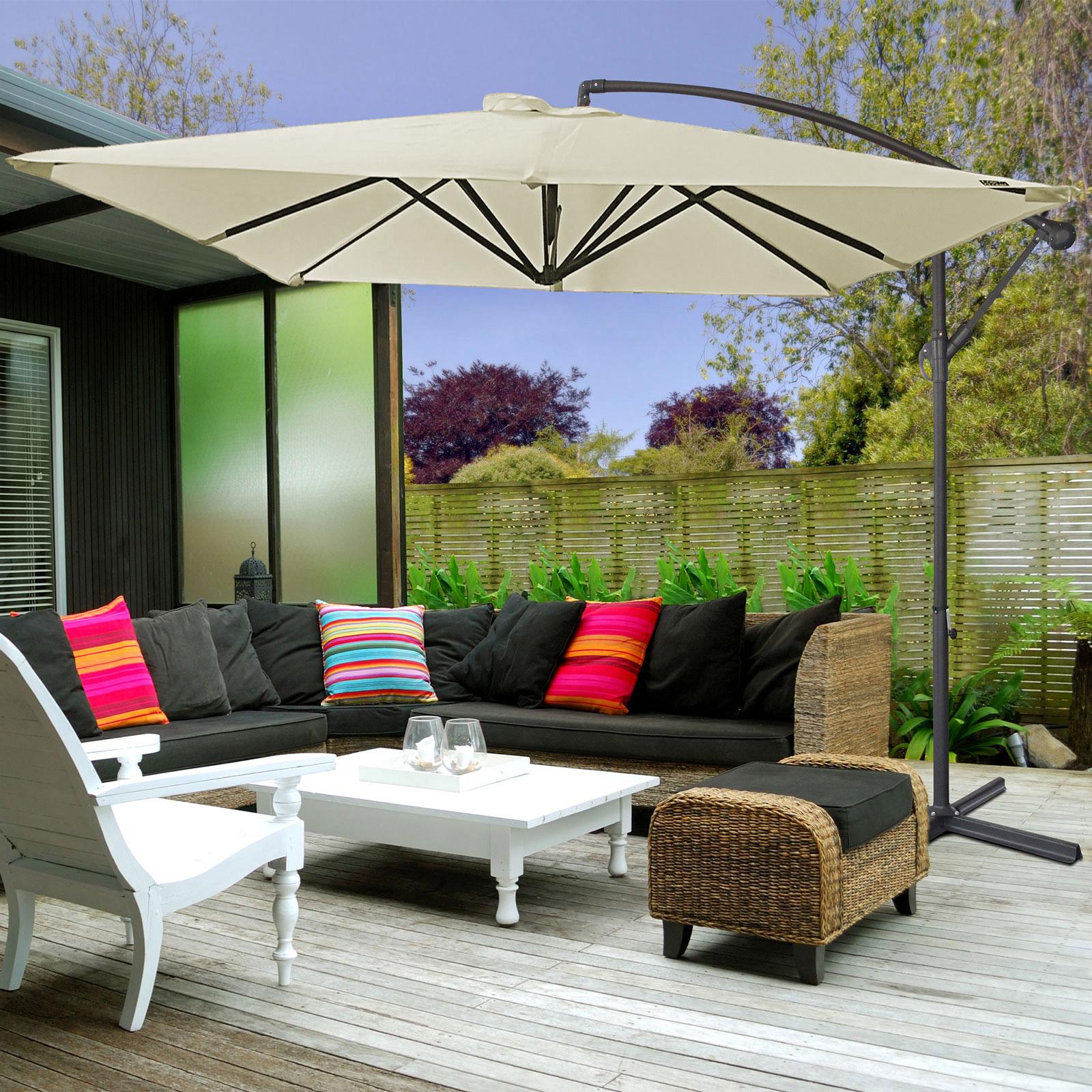 Milano-2-2M-Outdoor-Umbrella-Cantilever-Garden-Deck-Patio-Shade-Water-Resistant thumbnail 5