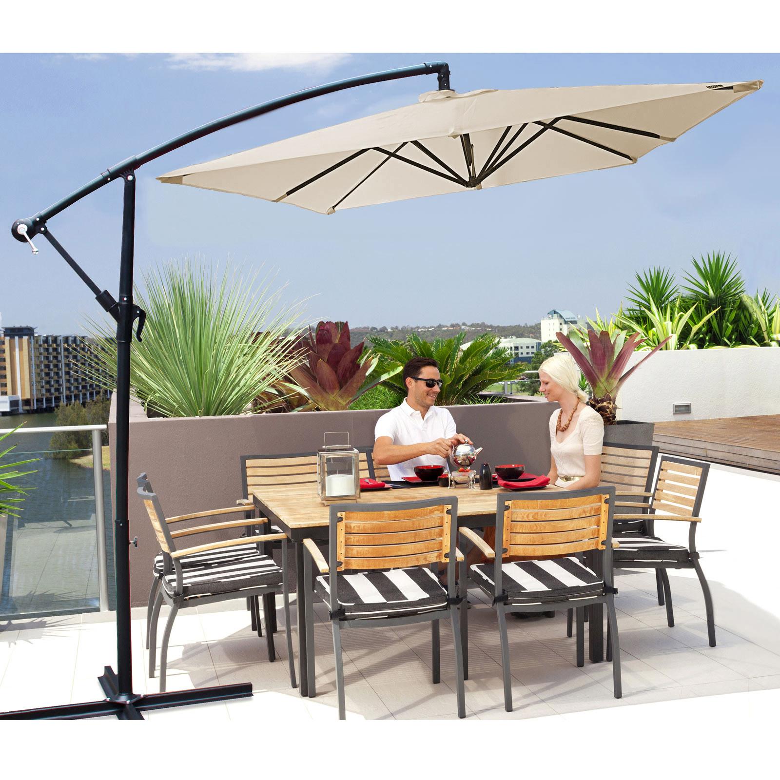 Milano-2-2M-Outdoor-Umbrella-Cantilever-Garden-Deck-Patio-Shade-Water-Resistant thumbnail 6