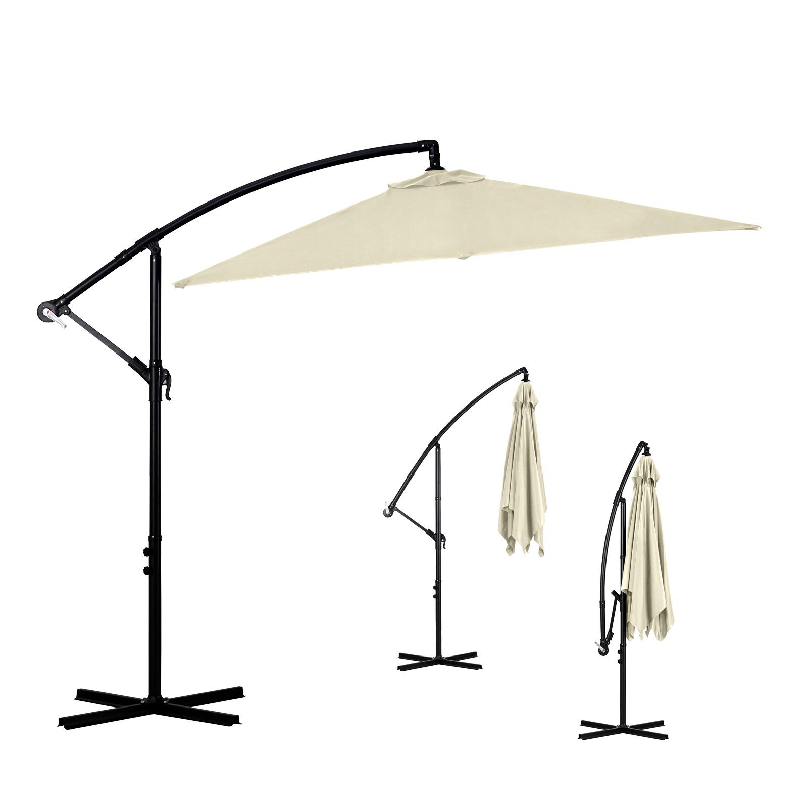 Milano-2-2M-Outdoor-Umbrella-Cantilever-Garden-Deck-Patio-Shade-Water-Resistant thumbnail 9