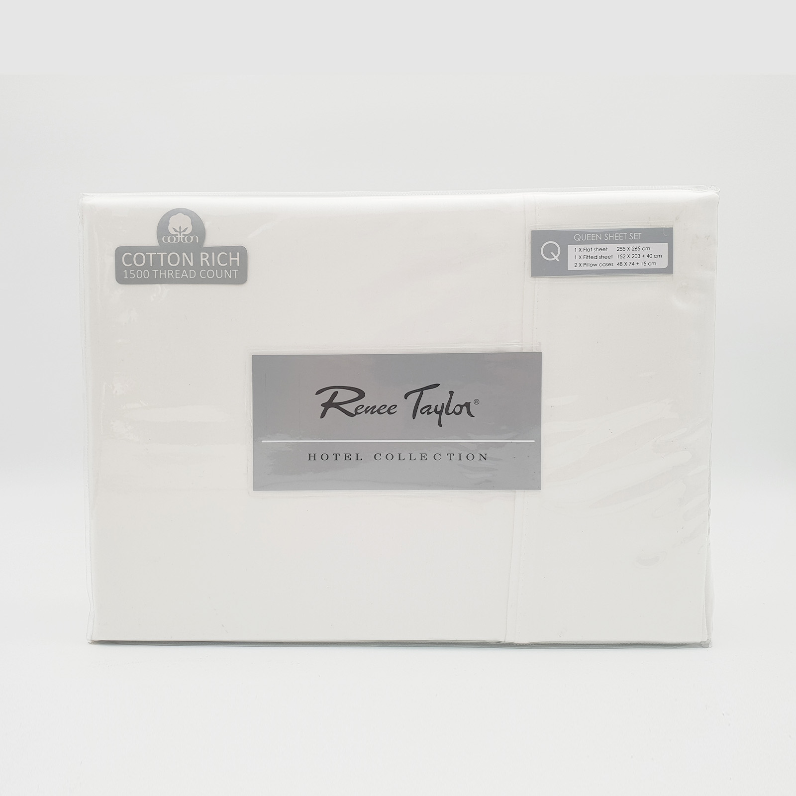Renee-Taylor-1500-Thread-Count-Pure-Soft-Cotton-Blend-Flat-amp-Fitted-Sheet-Set thumbnail 20