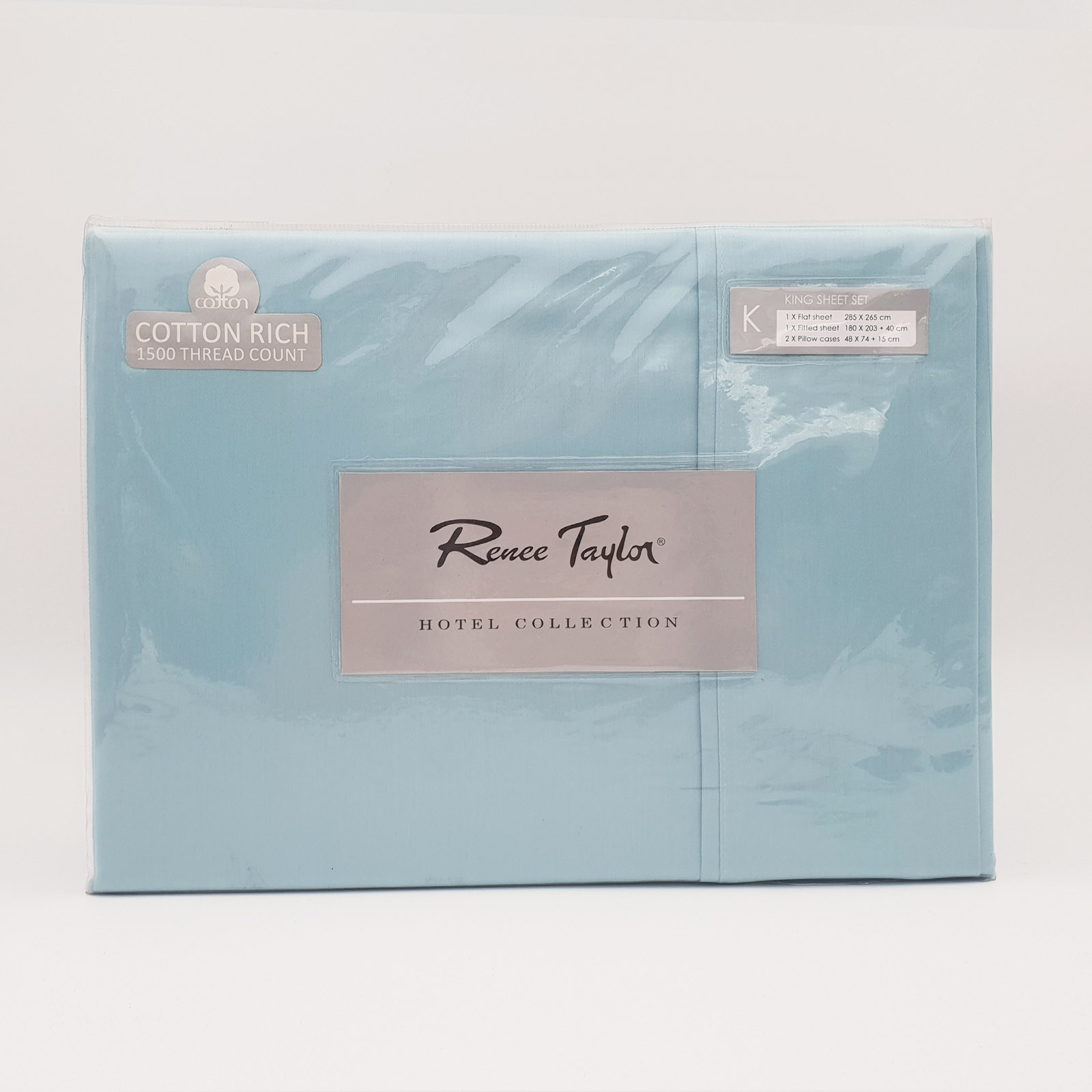 Renee-Taylor-1500-Thread-Count-Pure-Soft-Cotton-Blend-Flat-amp-Fitted-Sheet-Set thumbnail 14