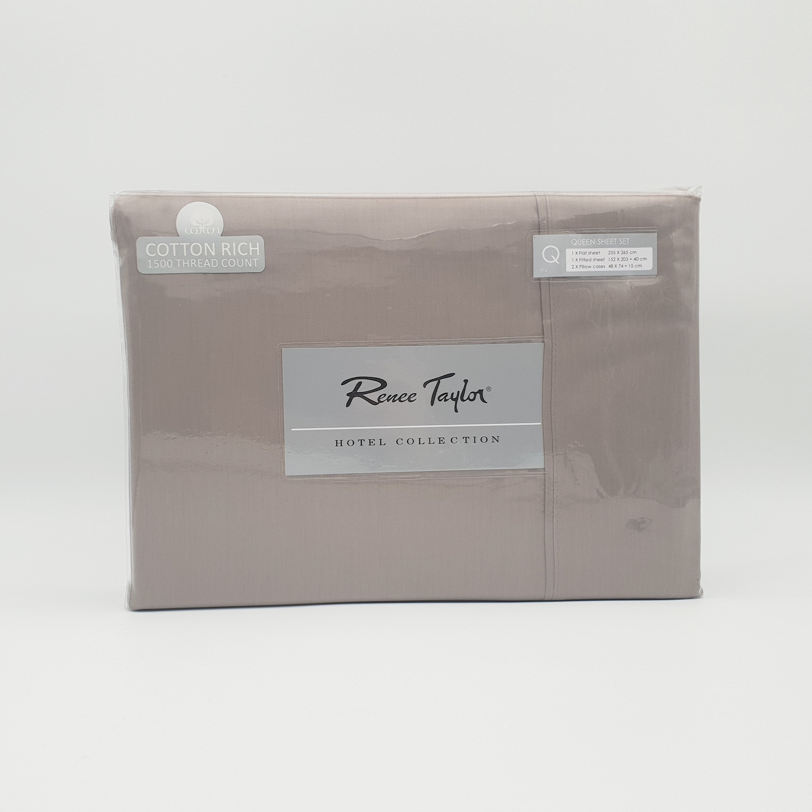 Renee-Taylor-1500-Thread-Count-Pure-Soft-Cotton-Blend-Flat-amp-Fitted-Sheet-Set thumbnail 17