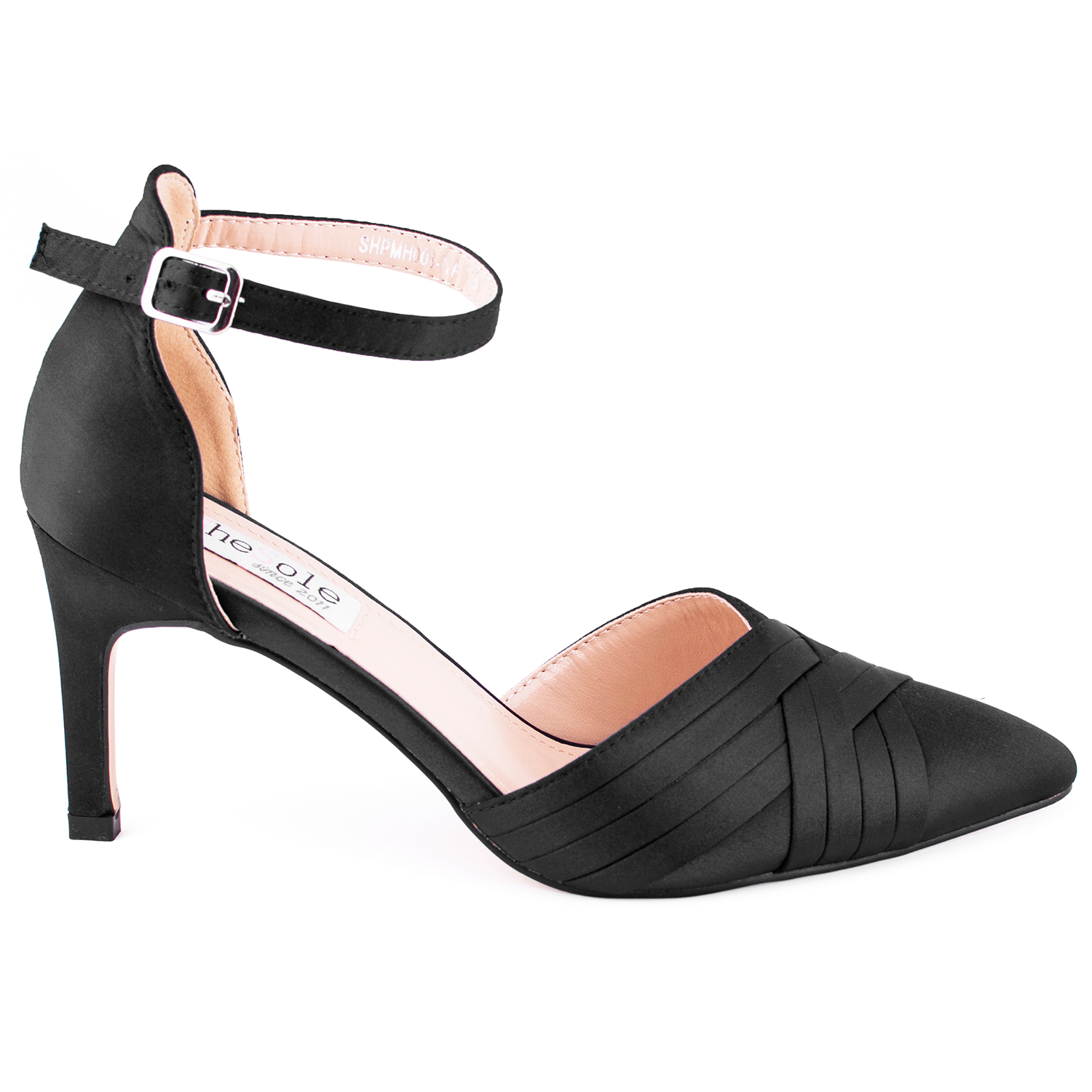 Womens-Stiletto-High-Heels-Pointed-Pumps-Ankle-Strap-Party-Prom-Work-Court-Shoes thumbnail 7