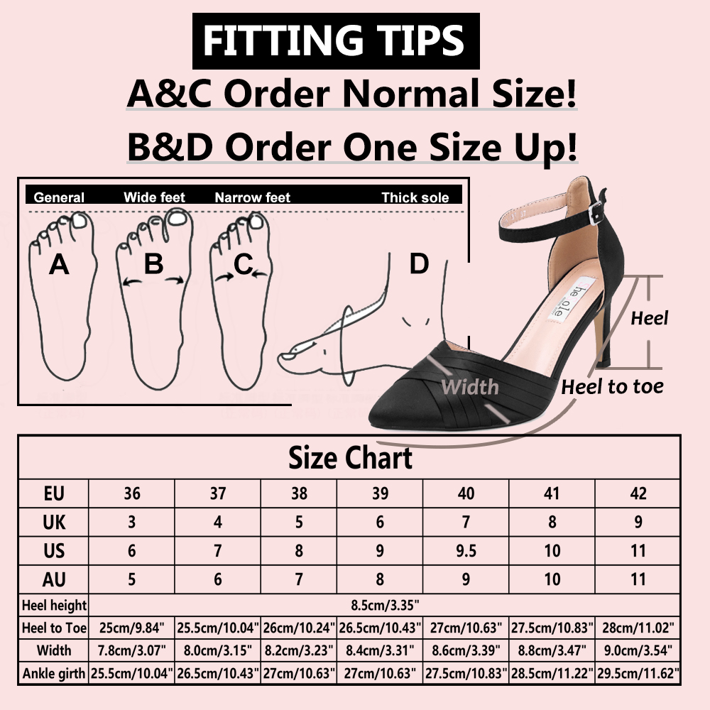 Womens-Stiletto-High-Heels-Pointed-Pumps-Ankle-Strap-Party-Prom-Work-Court-Shoes thumbnail 9