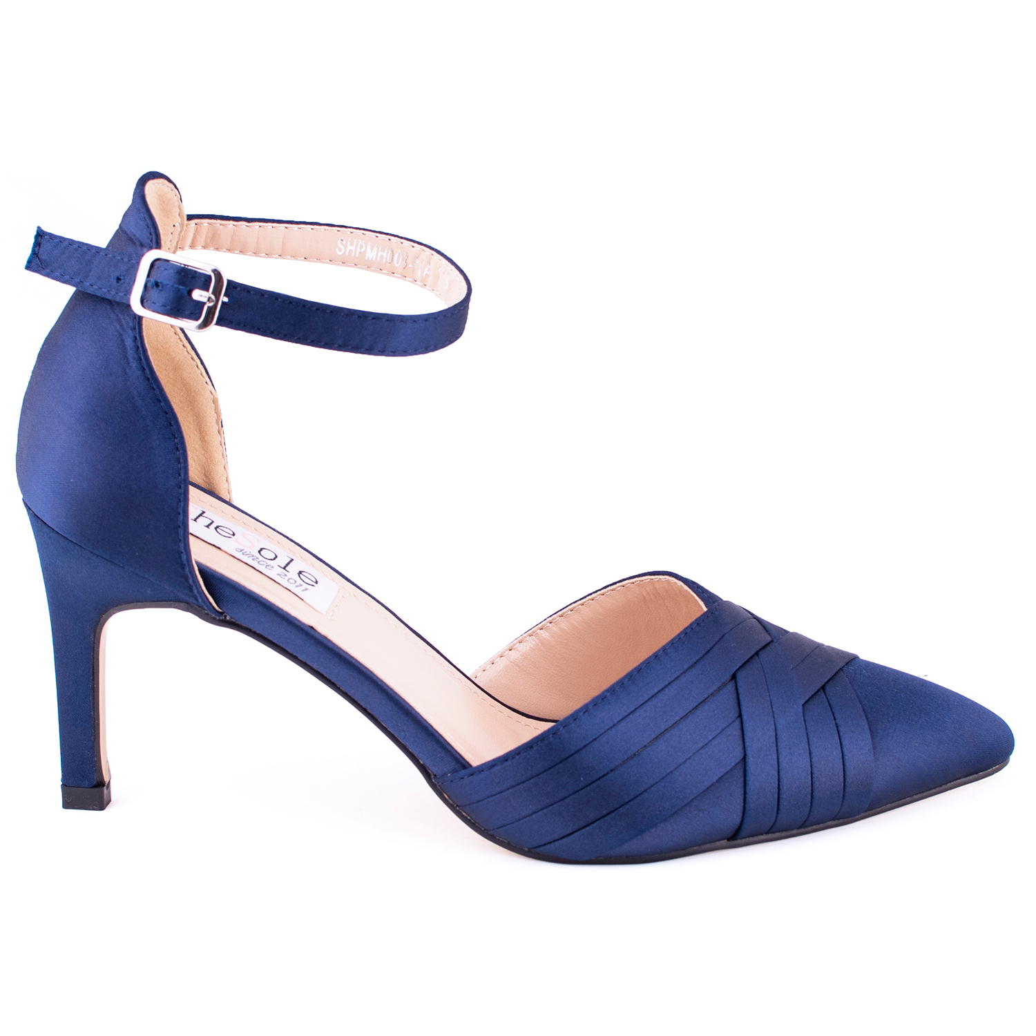 Womens-Stiletto-High-Heels-Pointed-Pumps-Ankle-Strap-Party-Prom-Work-Court-Shoes thumbnail 14