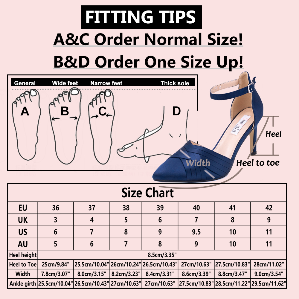 Womens-Stiletto-High-Heels-Pointed-Pumps-Ankle-Strap-Party-Prom-Work-Court-Shoes thumbnail 16