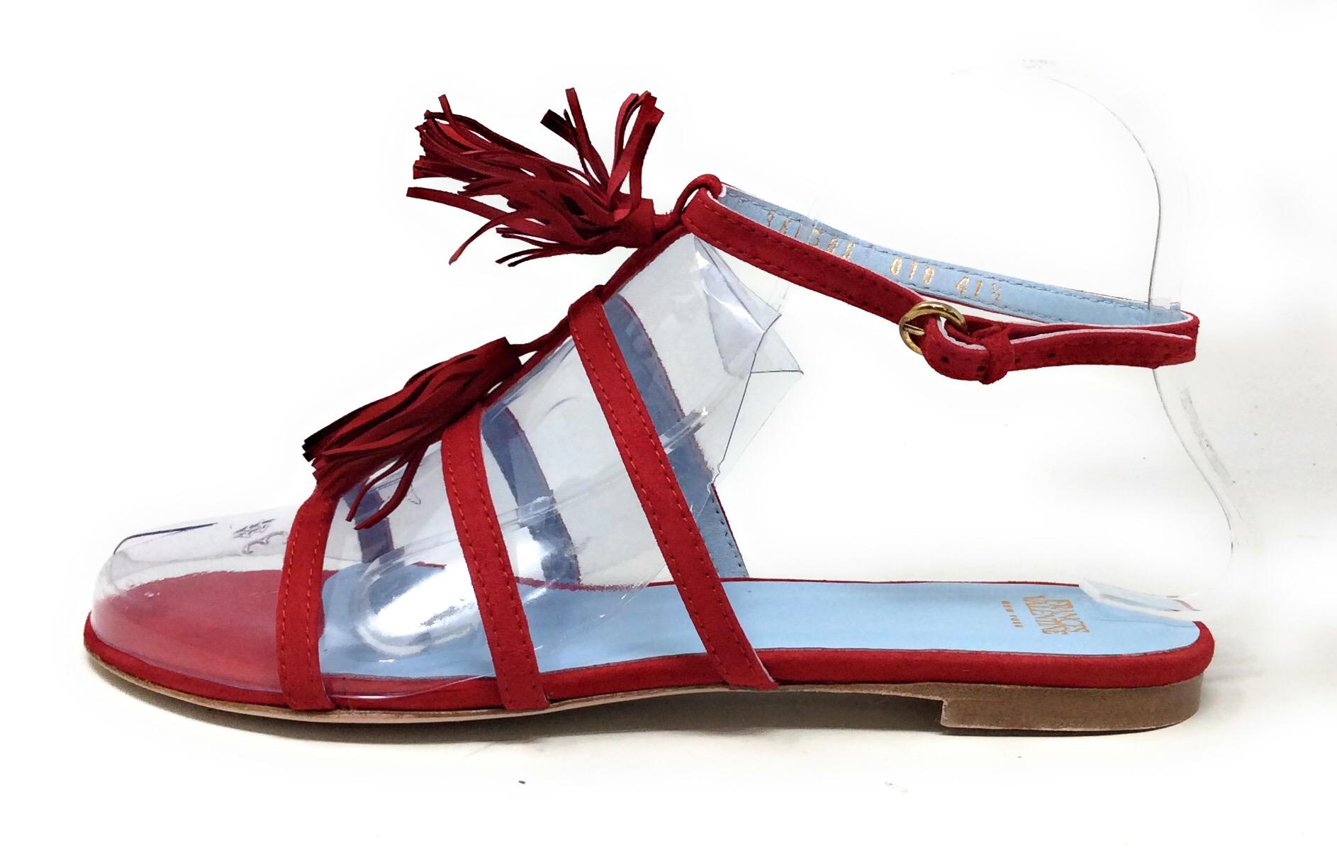 Savannah F0R977 Ladies Black Fringe Ankle Sandals R13B