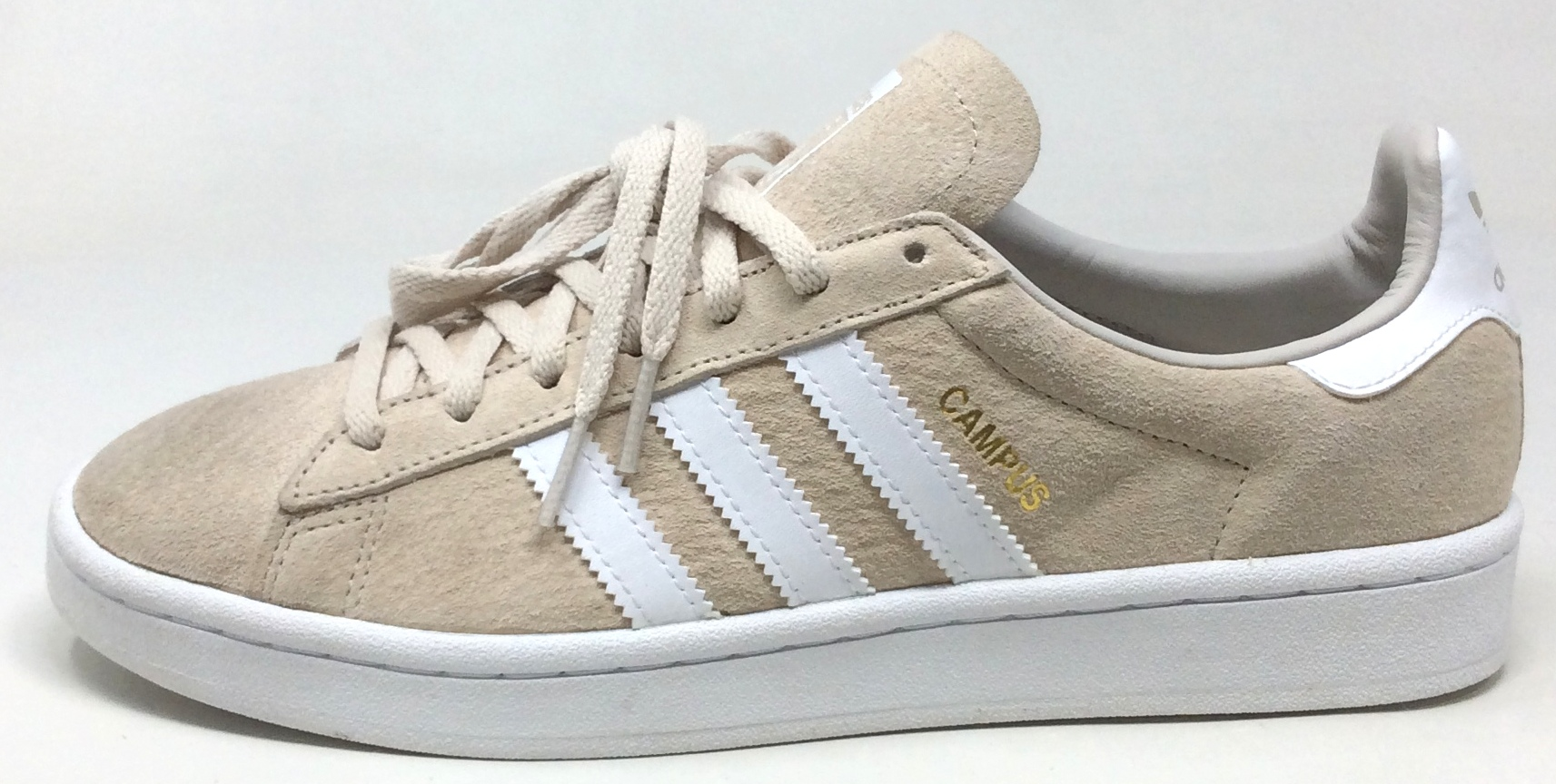 Patria Repegar creer  Adidas Women's Campus Casual Flat Fashion Shoes Light Brown White Size 9 M  US   eBay