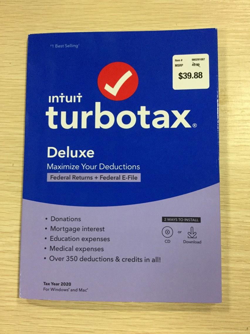 TurboTax Deluxe 2020 Desktop Tax Software Federal Returns ...