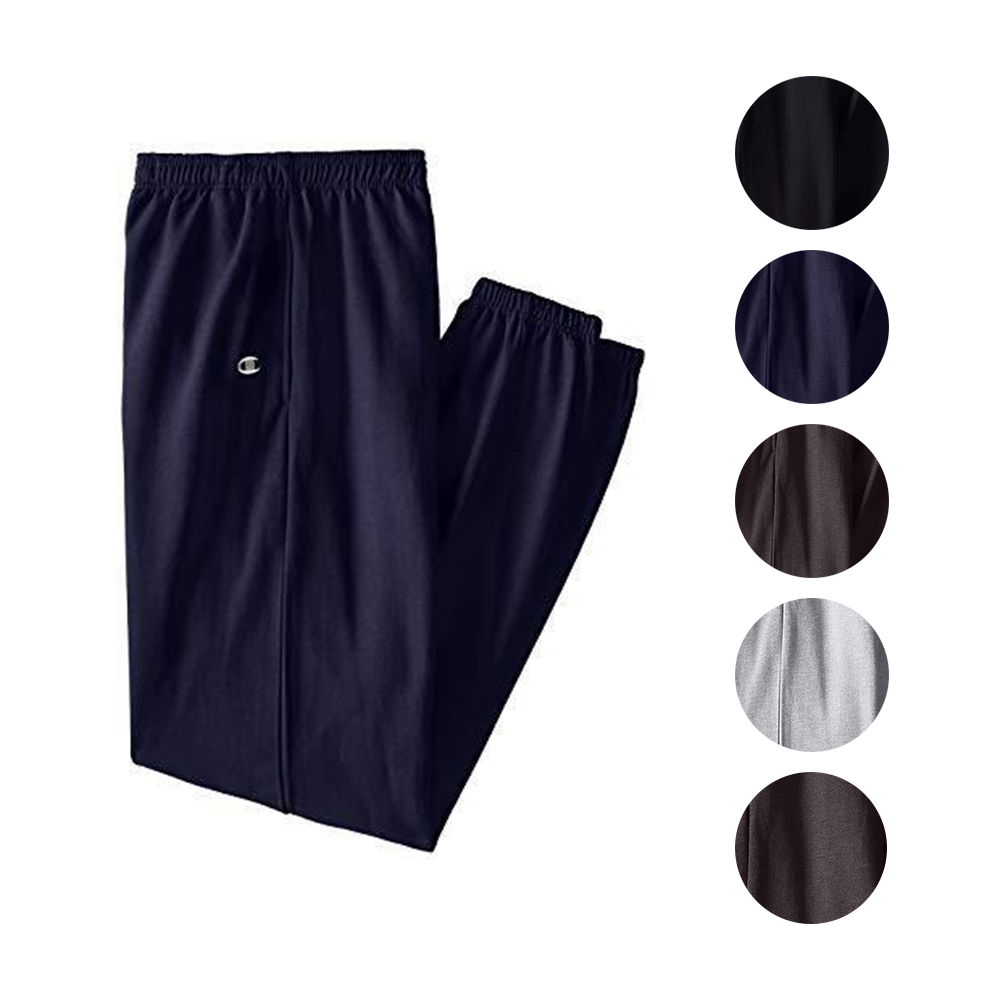 4a5d5968 Details about Champion Mens Big & Tall Fleece Sweatpants With Elastic  Waistband and Drawstring