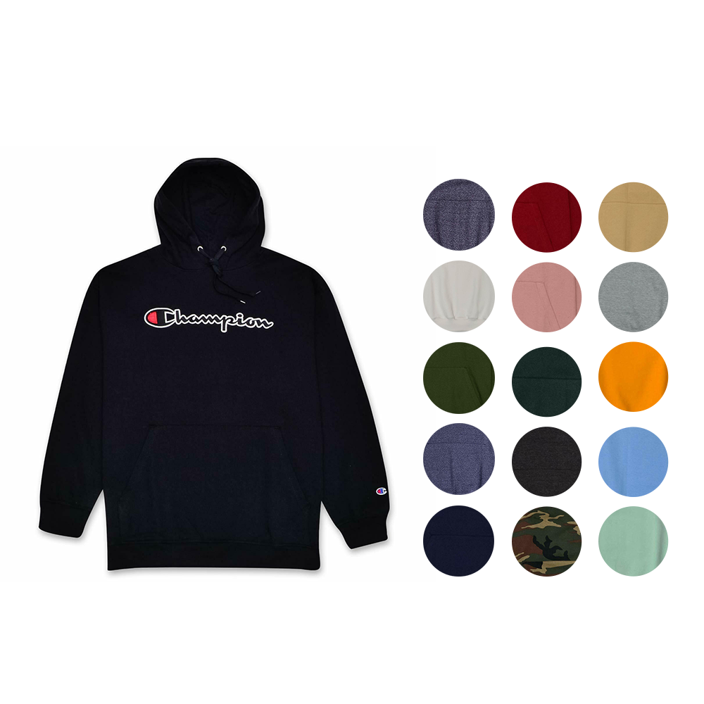 Details about Champion Mens Big and Tall Pullover Sweatshirt with Embroidered Script Logo