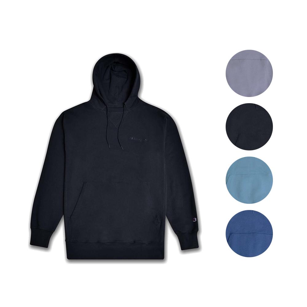 Champion Men Hoodie Sweatshirt Vintage Fleece Pullover Embroidered Script Logo