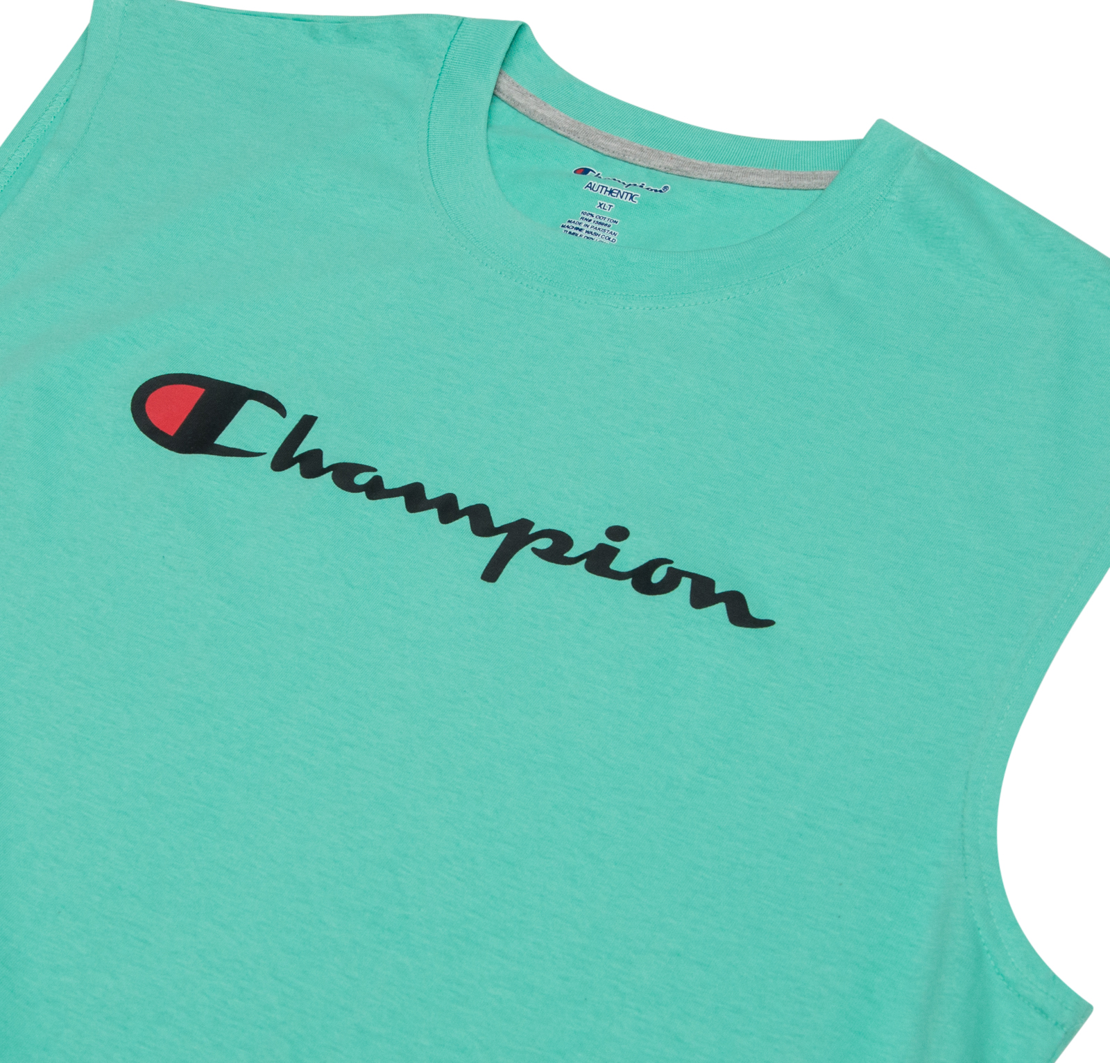 a20a402db72133 Champion Mens Big and Tall Jersey Muscle Tee with Script Champion ...