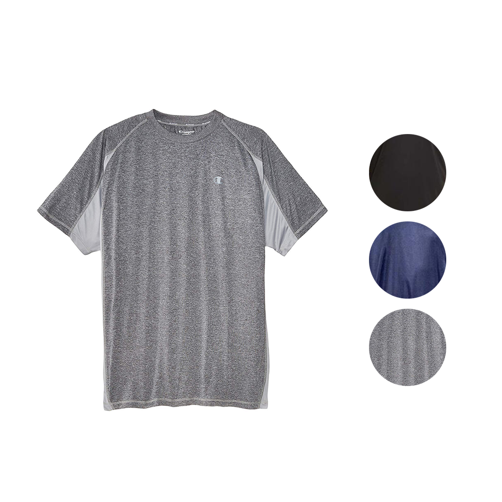 Champion Mens Big and Tall Active Performance T Shirt with Moisture Wicking Technology