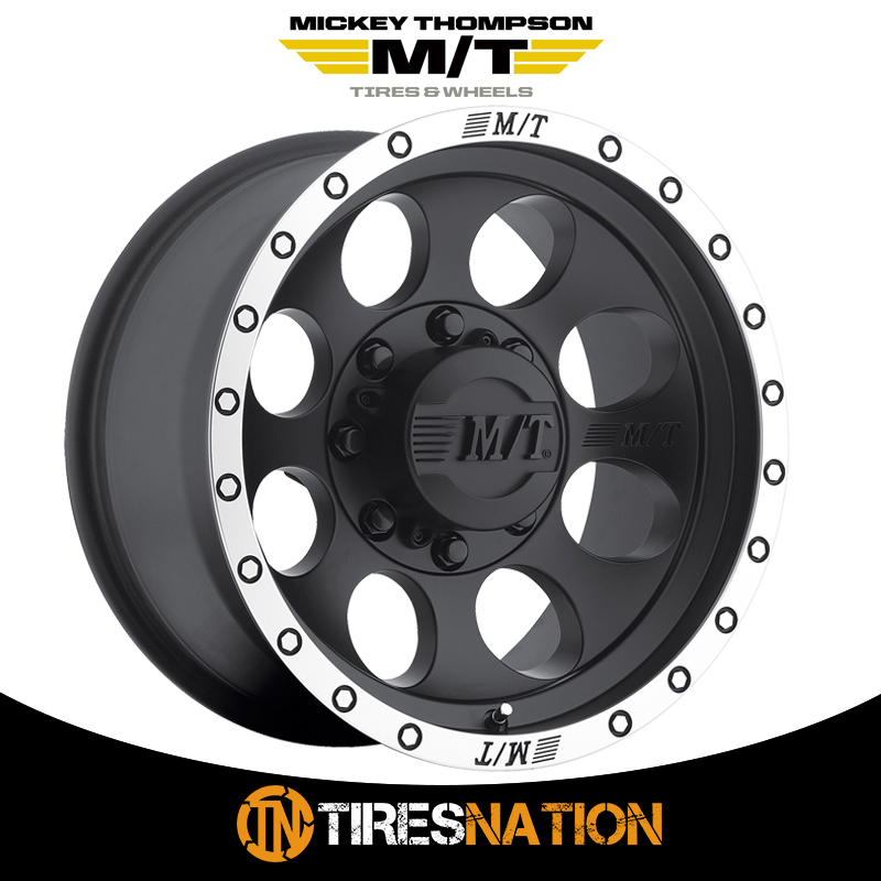 Mickey Thompson Classic Baja Lock Matte Black Wheel with Machined Finish 17x9//8x6.5