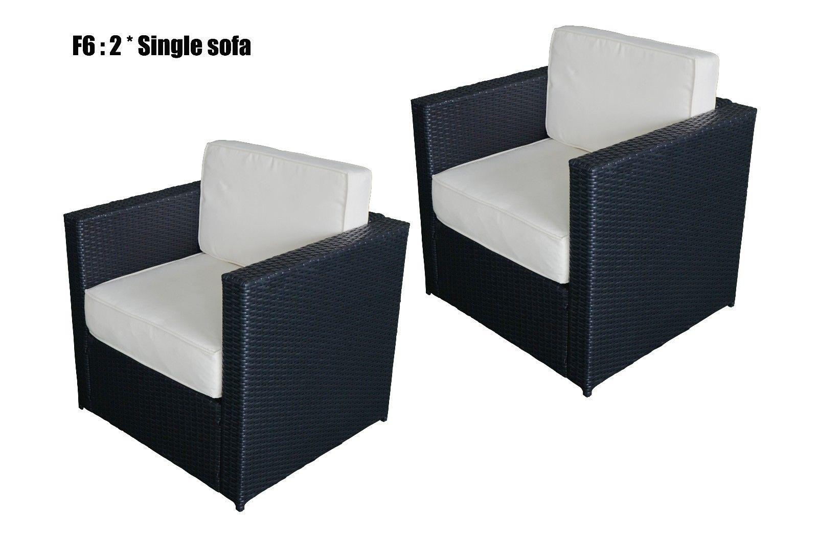 Mcombo Diy Cozy Outdoor Garden Patio Rattan Wicker Furniture