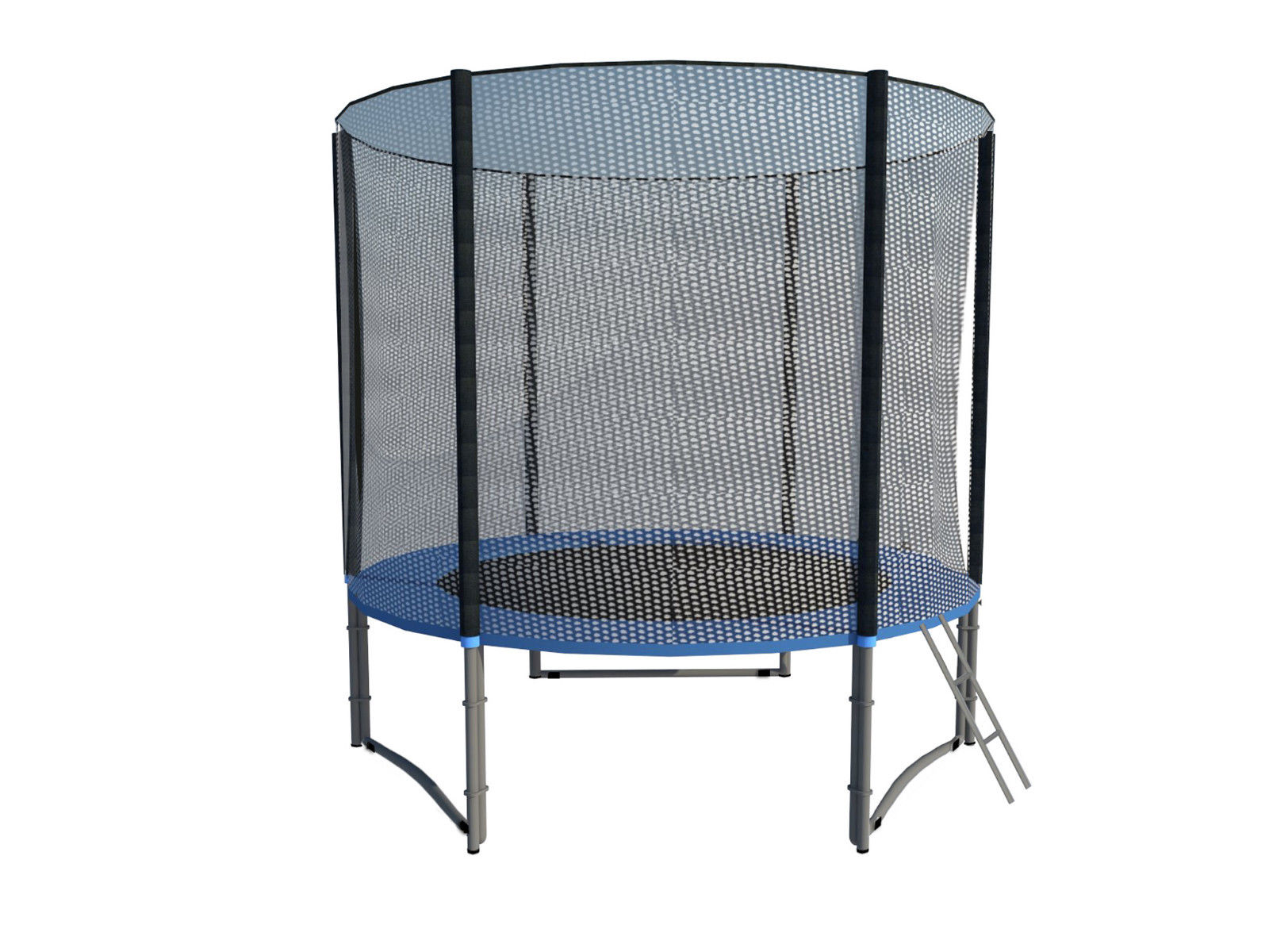 ExacMe-8-039-16-039-Round-Trampoline-Safety-Pad-With-Net-Ladder-Basketball-Hoop
