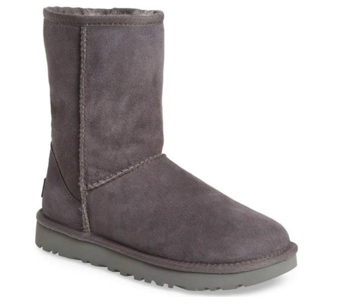 ugg women s classic short ii boots grey sale ebay rh ebay com  ugg classic short boot black sale