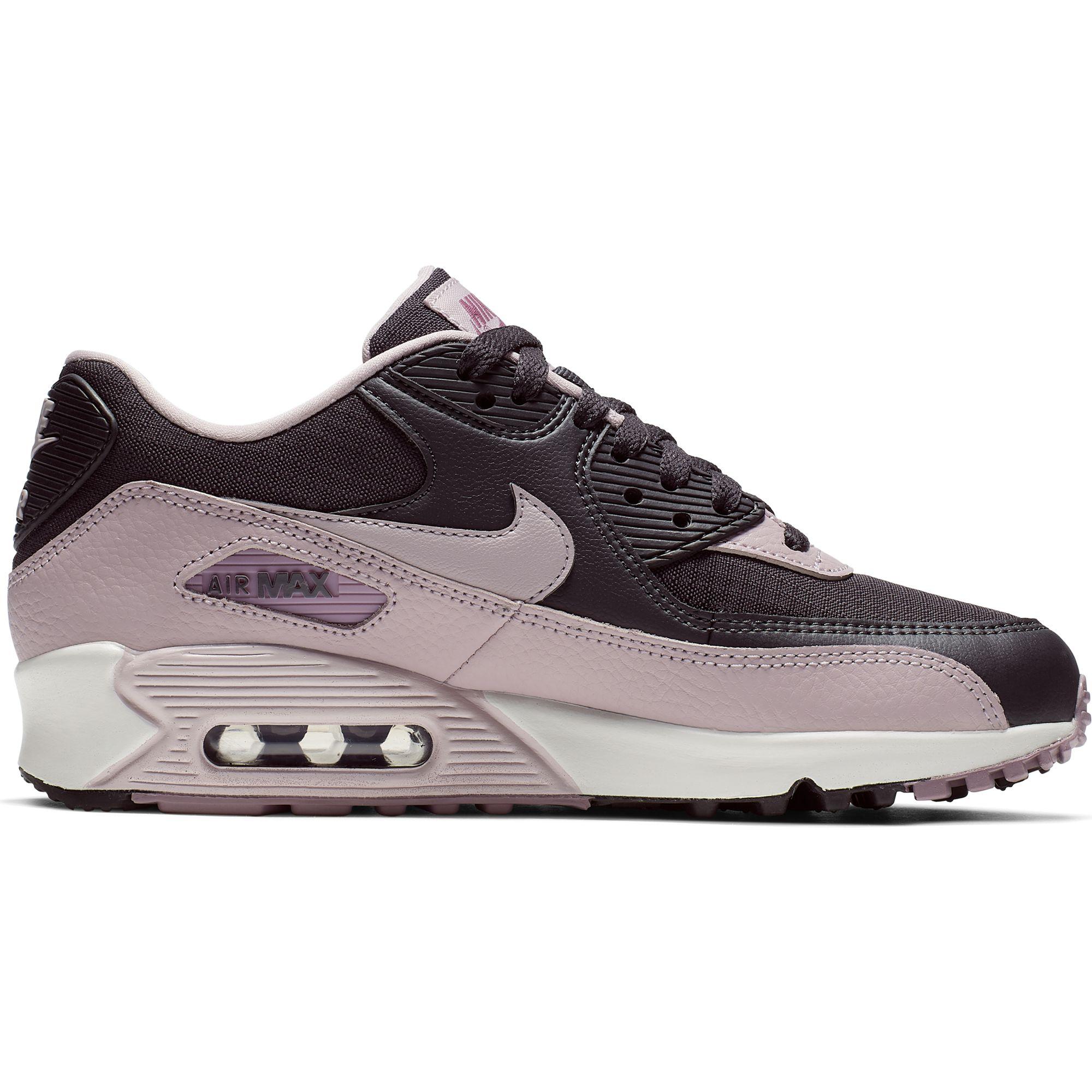 sports shoes 9d999 21c9d Details about Nike Women's Air Max 90 Sneakers, Oil Grey/Plum Chalk-Plum  Dust