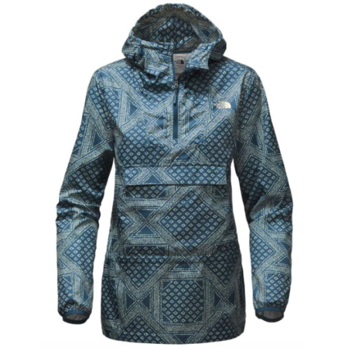 adfe9629e Details about The North Face - Women Fanorak Rain/Wind Resistance Jacket,  Blue Bandana