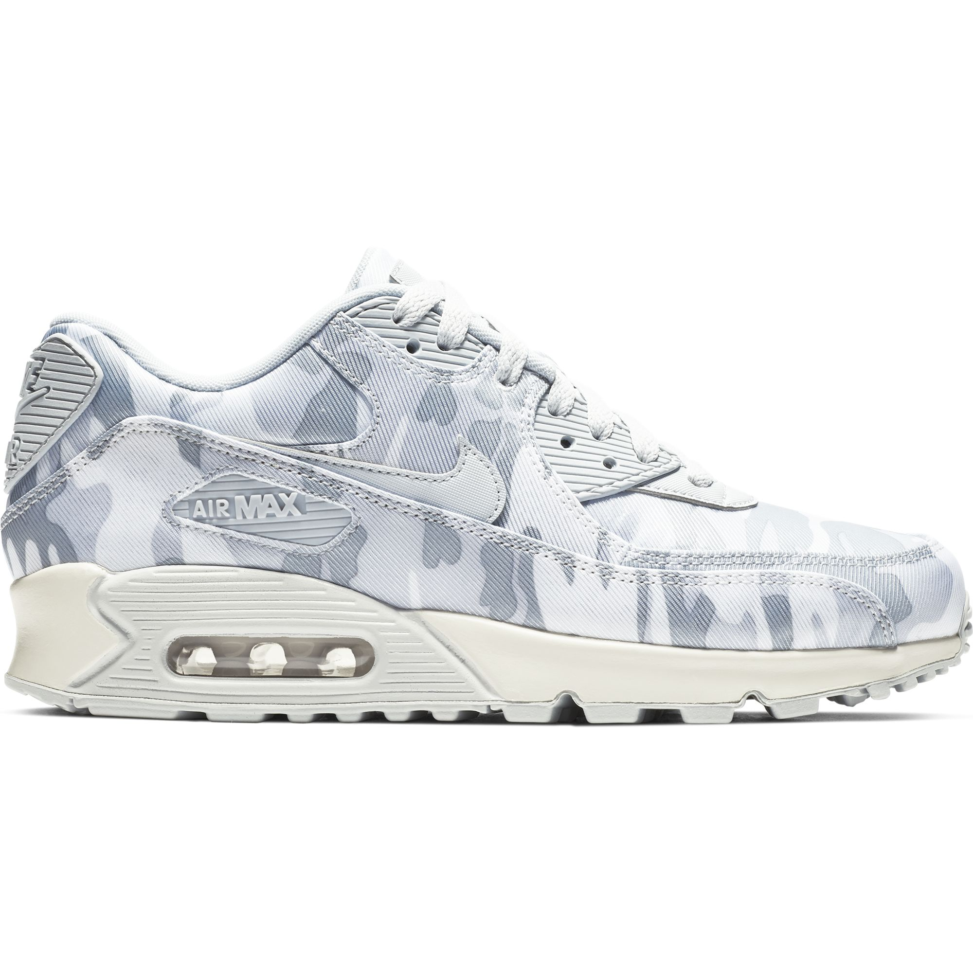 online store beee1 f5ea6 Nike Women's Air Max 90 CSE Camo Sneakers, Summit White/Wolf Grey | eBay