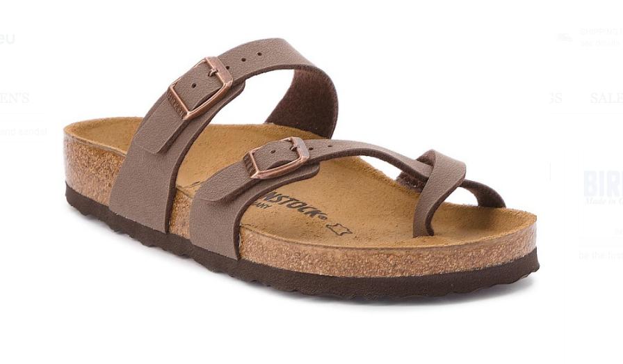 Birkenstock Mayari Birko-Flor Nubuck Regular Fit Unisex Sandal ... 1c93e51f687