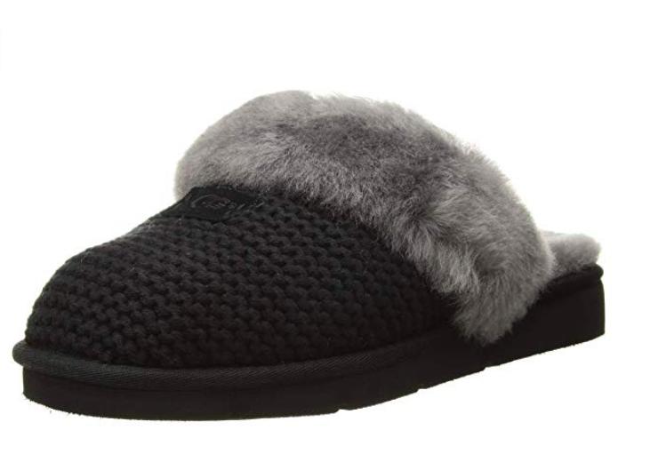 37419e4609e Details about UGG Women's Cozy Knit Slipper, Black