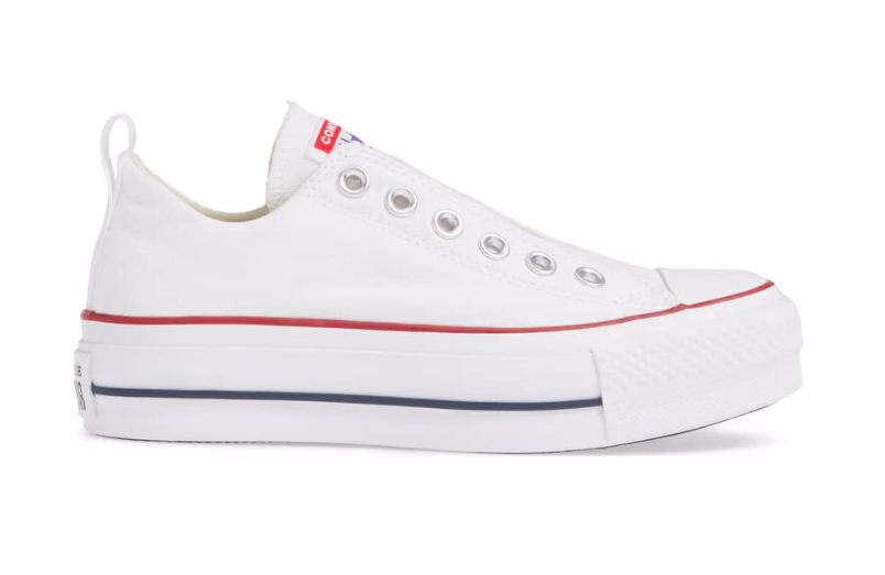 Converse Women s Chuck Taylor All Star Platform Slip-On - White Red ... bc6d19b69