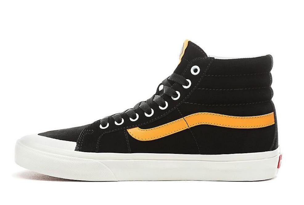 5a0aa1dae02f6 Vans Men's SK8-Hi Reissue 138 Sneakers, Black/ Zinnia US 8.5