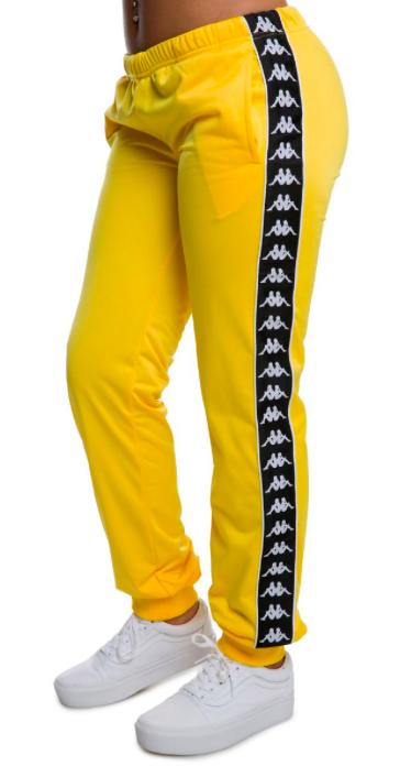 0565440fdf Kappa 222 Banda Wastoria Slim Women Track Pants, Yellow | eBay